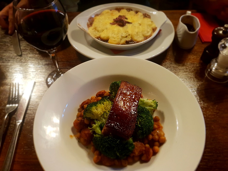 Maple Glazed Pork Belly & Cottage Pie - The Cridford Inn