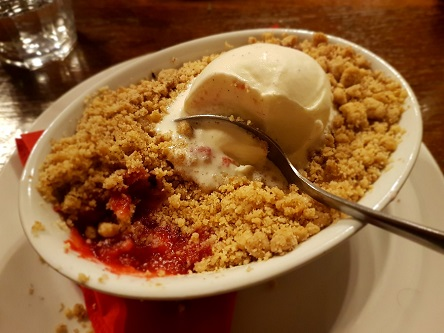 Apple & Blackberry Crumble - The Cridford Inn