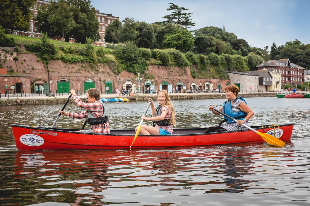 Canoeing on Exeter Quayside