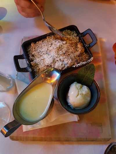 Apple and Salted Caramel Crumble - Bill's Exeter