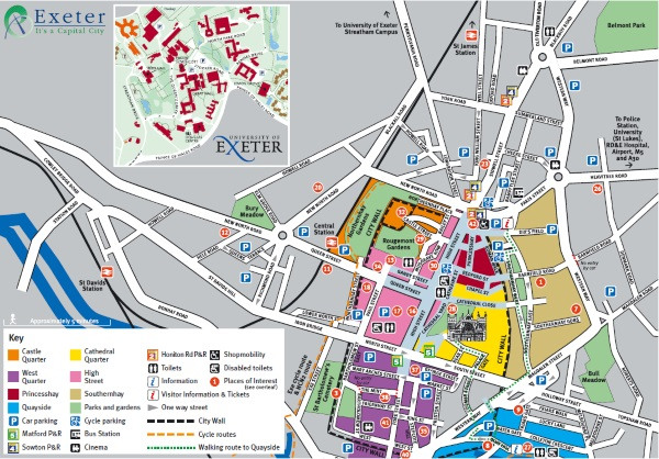 Exeter City Centre Map