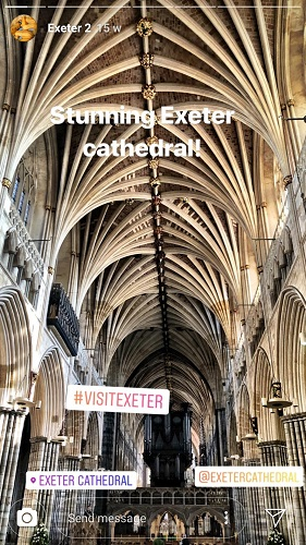 Exeter Cathedral: @theboutiqueadventurer