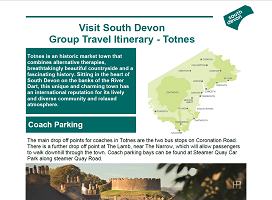 Visit South Devon - Group Itinerary - Totnes