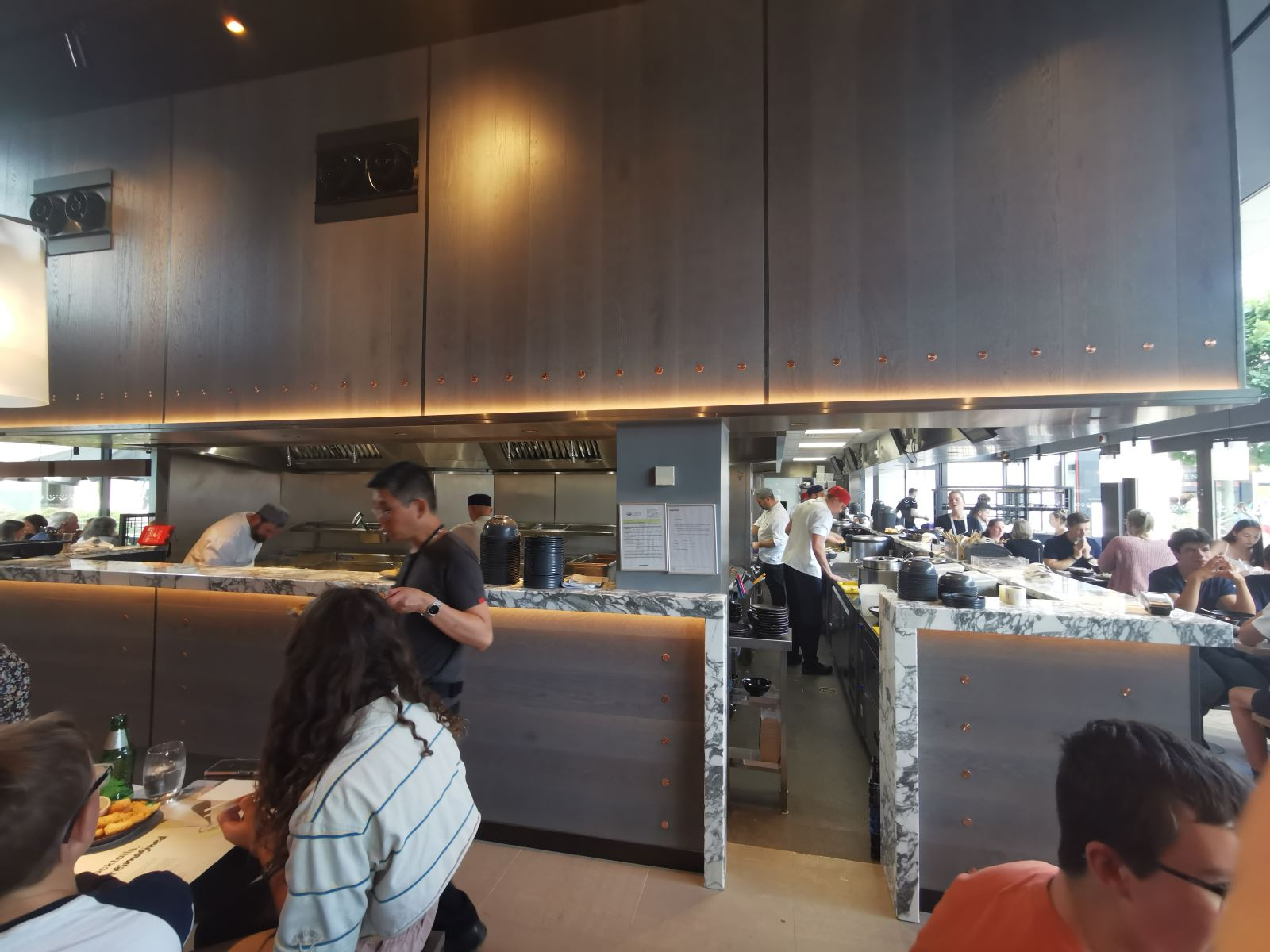 Open kitchen at wagamama