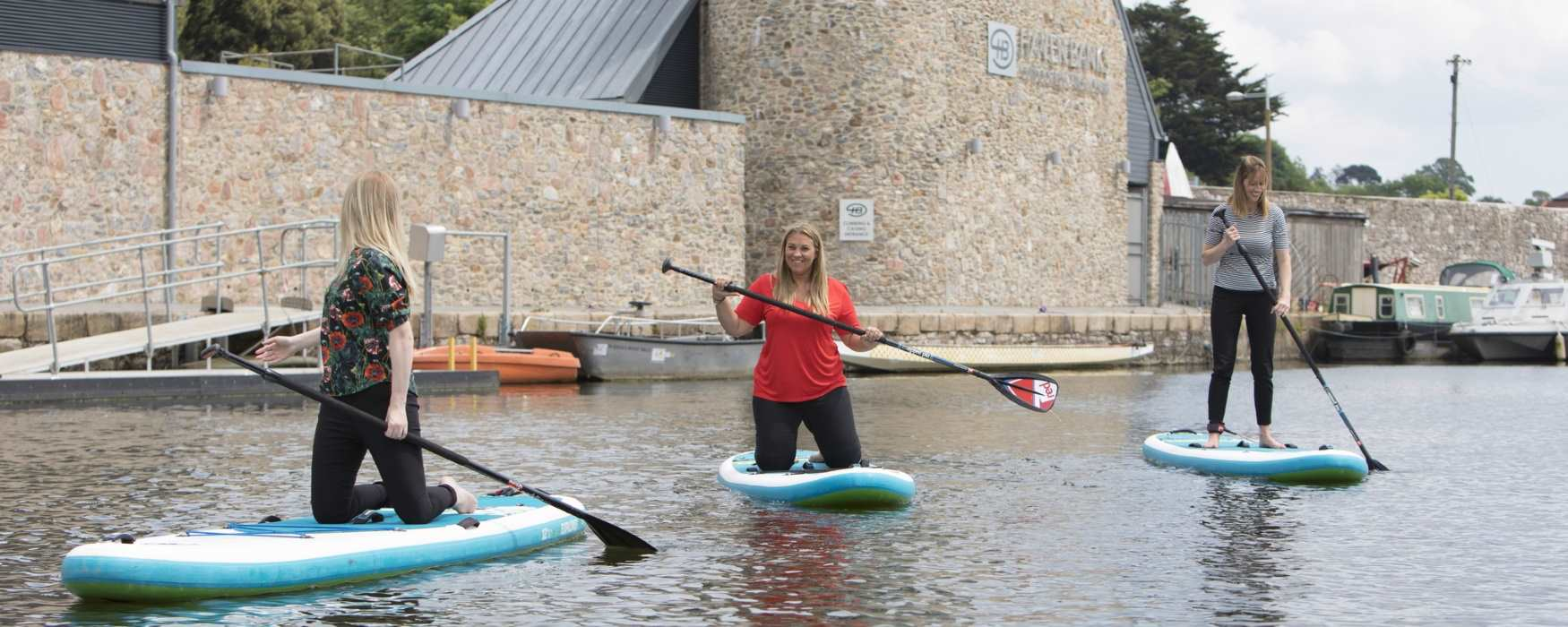 Paddle-boarding at Haven Banks