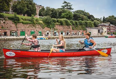 Canoeing on Exeter's Quay