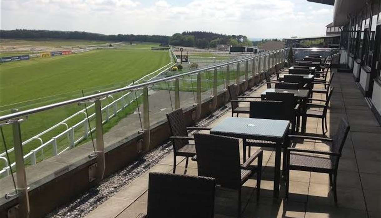 Exeter Racecourse - seating right by the racecourse