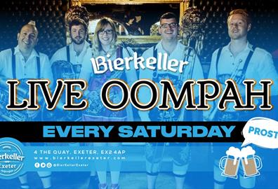 It's Oktoberfest EVERY SATURDAY at Bierkeller