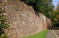 The CIty Wall in Southernhay