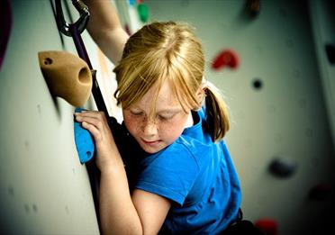 Person using Quay Climbing Centre