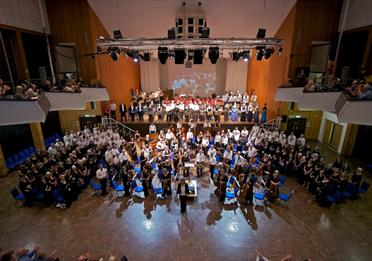 Exeter Music Group Symphony Orchestra at the Great Hall (photography: NigelCheffers-Heard & Zoita Mandila)