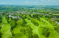 BIrd's Eye view of the golf pitches