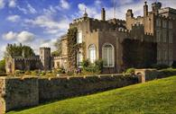 Powderham Castle - angled image of the exterior