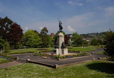 War statue in Exeter Nothernhay Gardens