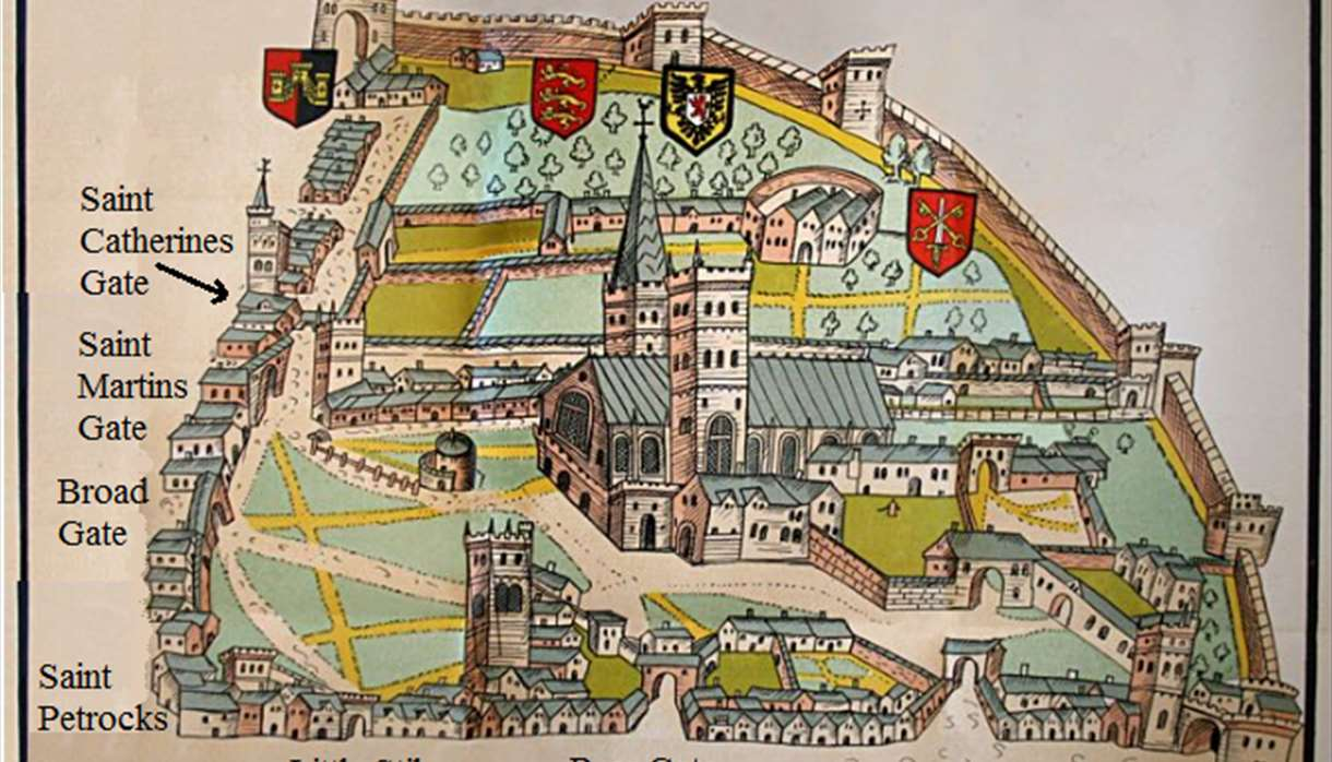 Old Style Map of Exeter