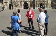 A Red Coat Guided Tour outside the Cathedral