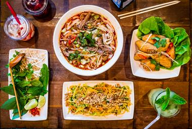 A selection of Pho dishes