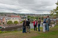 Red Coat Guided Tours overlooking Exeter's Historic Quayside