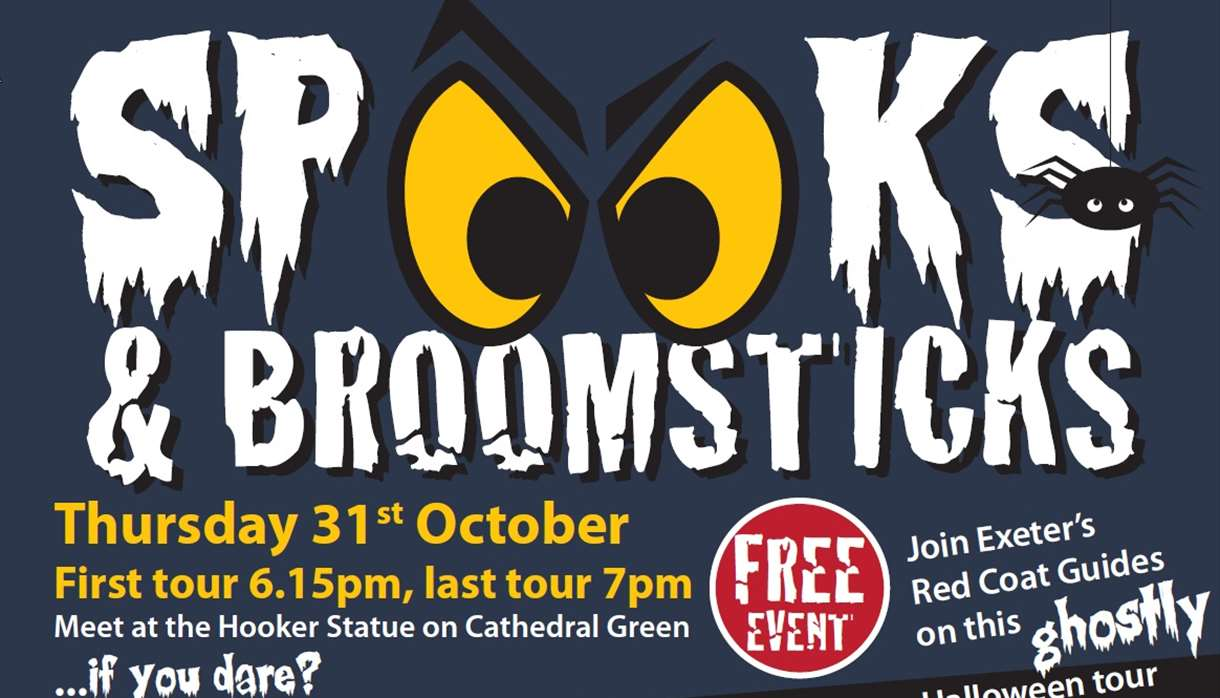 Spooks & Broomsticks tour poster