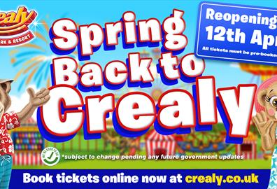 Crealy Theme Park Reopening 12th April