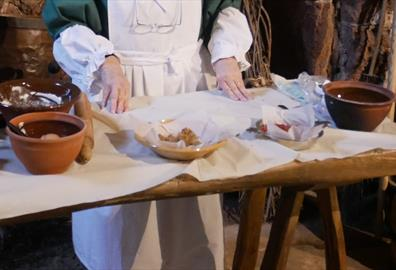 Demonstration of Tudor Cooking and Recipes in the Priory Kitchen