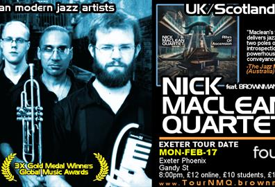 Fougou Music presents NICK MACLEAN QUARTET feat. BROWNMAN ALI (Exeter)