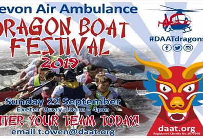 Devon Air Ambulance Dragon Boat Festival 2019
