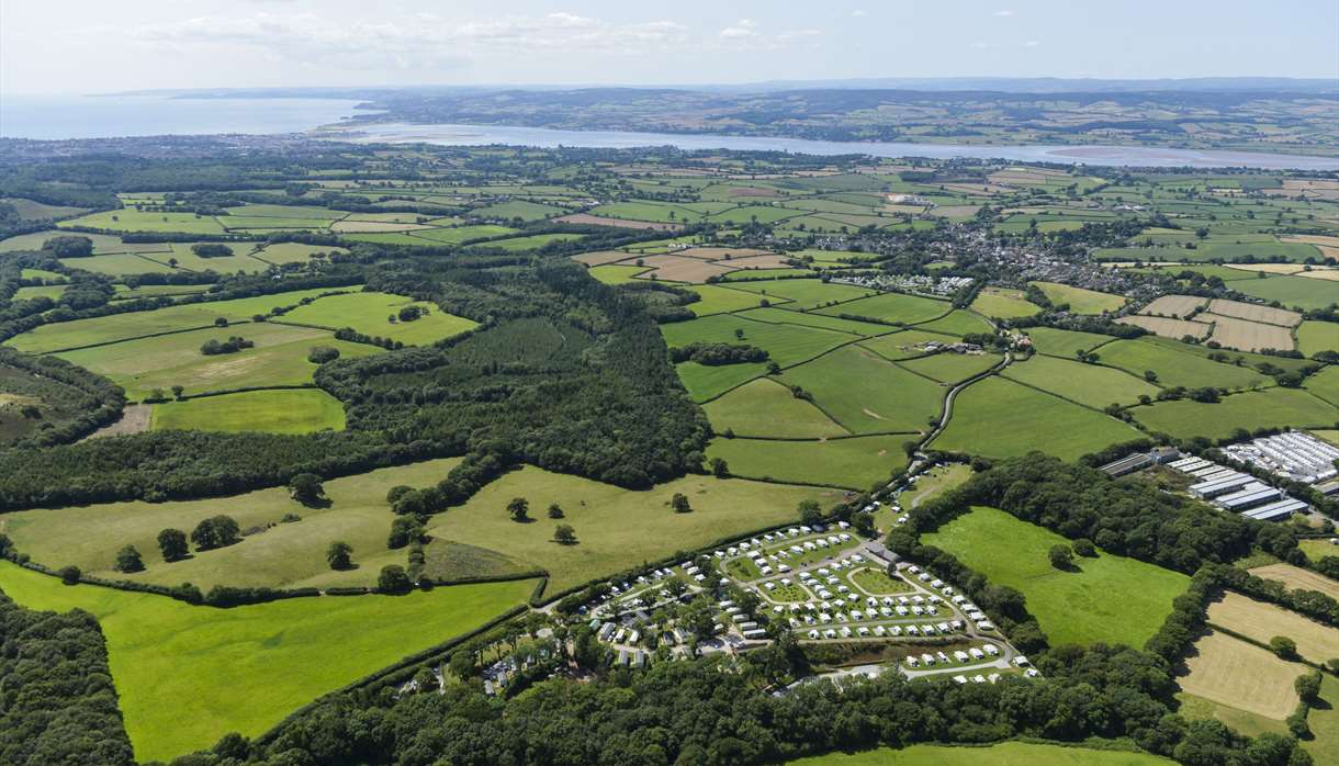 Castle Brake Holiday Park - Bird's Eye View