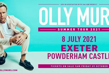 Olly Murs at Powderham Castle