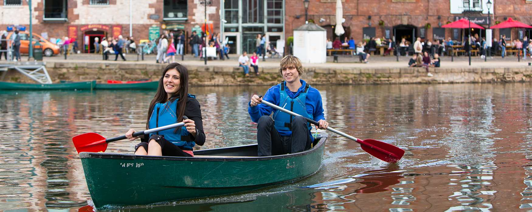 Get out on the water at Exeter's quayside