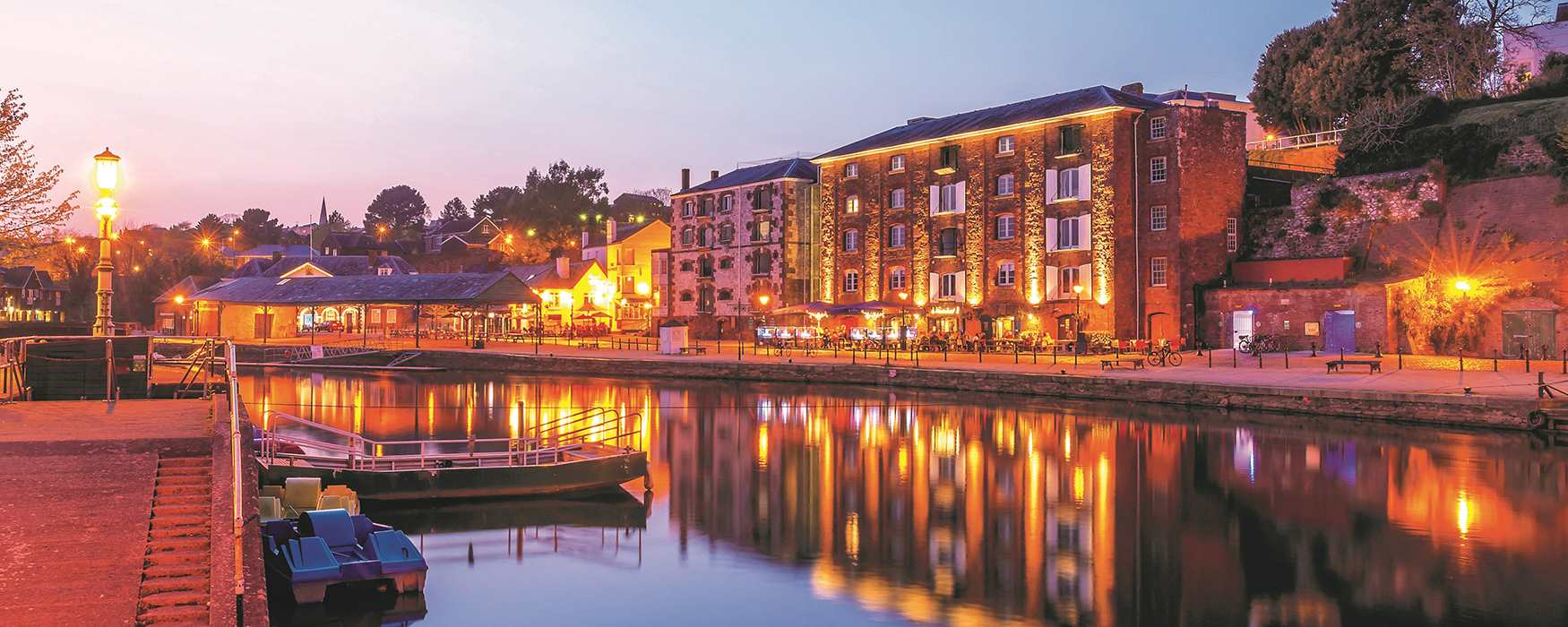 Waterside pubs and restaurants in Exeter