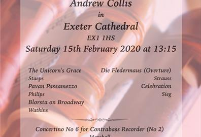 Exeter Recorder Orchestra Lunchtime Concert