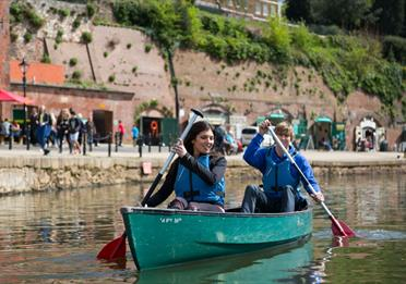 Kayaking on Exeter Quayside