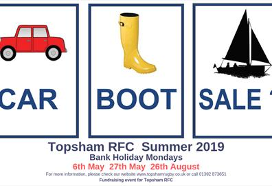 Topsham RFC Car Boot Sale