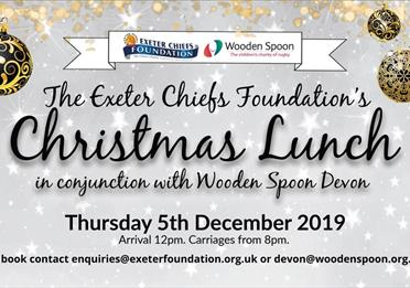 The Exeter Chiefs Foundation's Christmas Lunch