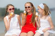 Ice Cream Girls at Paignton Festival in Devon