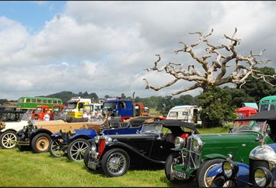 Powderham Castle - Crash Box Classic Car Show Historic Vehicle Gathering