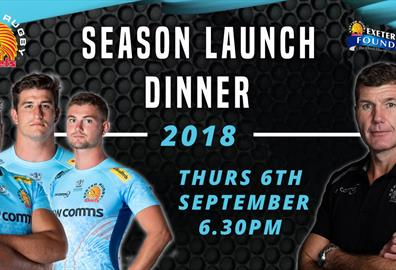 Exeter Chiefs Season Launch Dinner