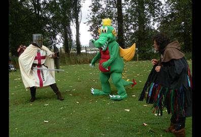 Powderham Castle - Knights and Dragons