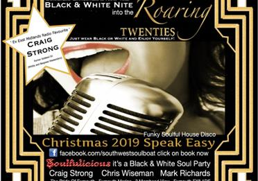 Christmas & New Year Great Gatsby Roaring 20's South West Soul Boat