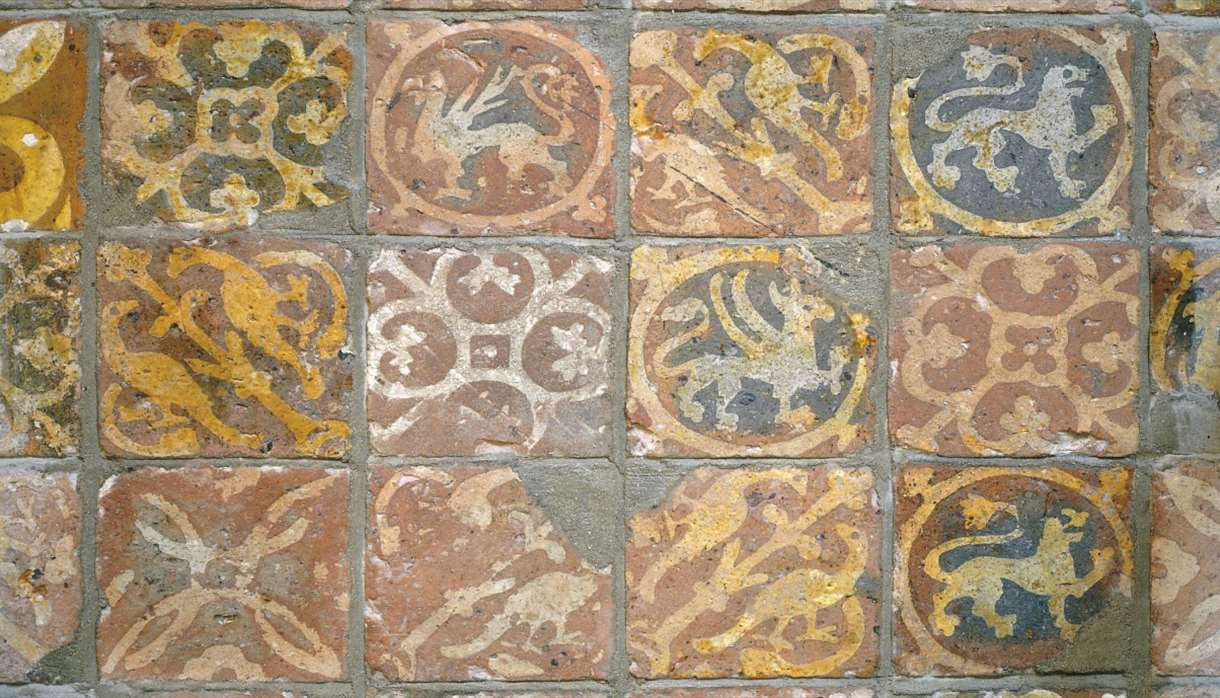 Medieval tiles in the old Song Room