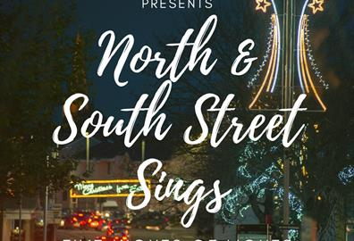 NORTH AND SOUTH STREET SINGS for Five Nights of Lights