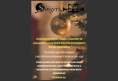 Exeter University Singers Congregational Carols in Association with Exeter University Brass Ensemble