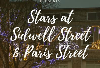 STARS AT SIDWELL & PARIS STREET for Five Nights of Lights