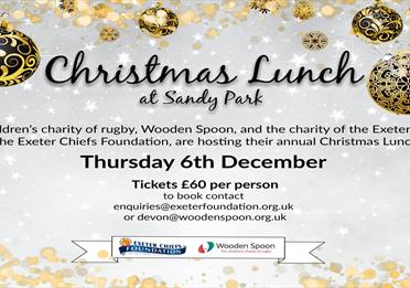 Sandy Park - Charity Christmas Lunch
