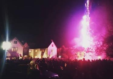 Free Community Bonfire And Fireworks
